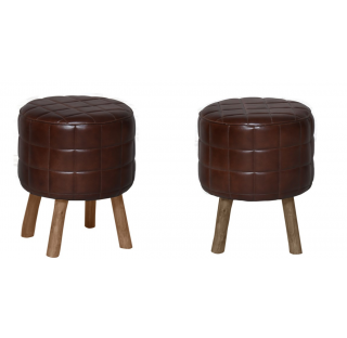 LEATHER - POUF
